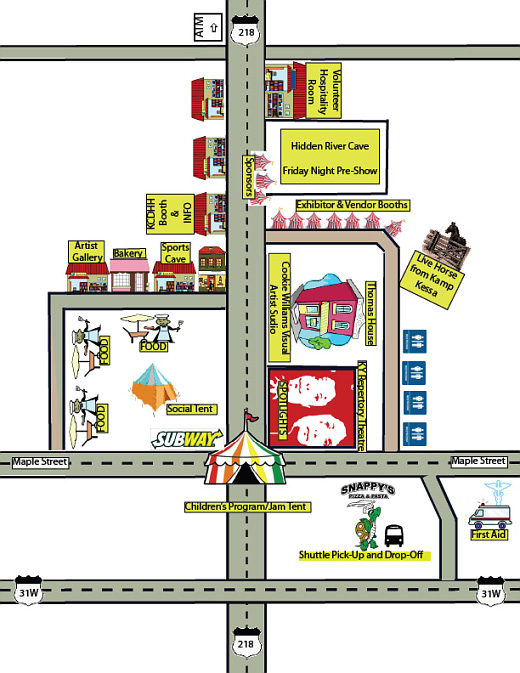 Local map of DeaFestival 2010