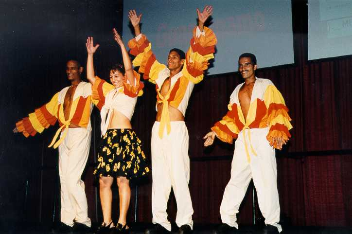 Cuban Dance group in Traditional Cuban dress
