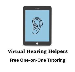 Download a flyer about Virtual Hearing Helpers: free tutoring services.