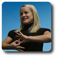 Image of ASL interpreter