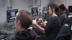 Image of students in a lab.