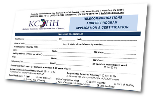 Picture of KCDHH TAP application.
