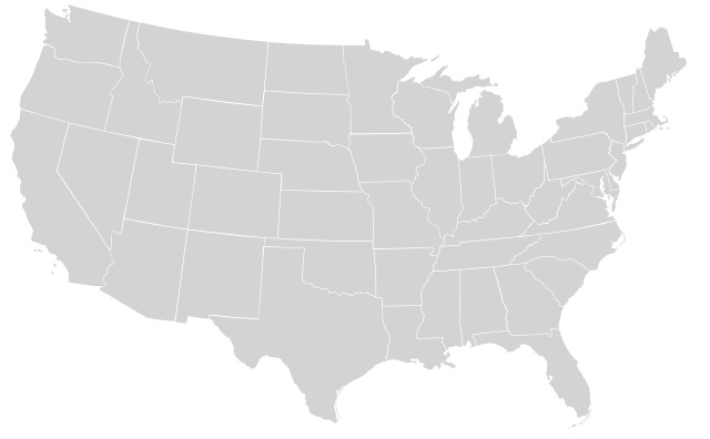 State map of the United States.