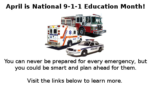 9-1-1 Education Month.