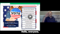 Watch a video screenshot entitled, General Election Absentee Voting.