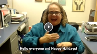 Watch a video entitled, Happy Holidays 2020.