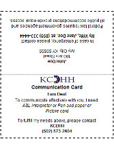 Communication Card