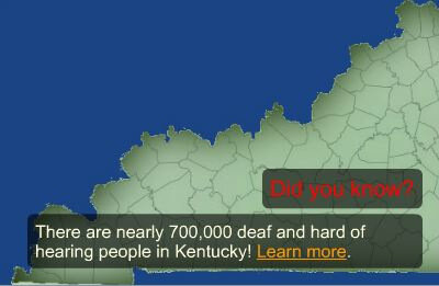 Image of a Kentucky county map.