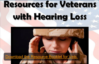 Image of a veteran struggling to hear.